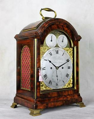 FINE MAHOGANY BRACKET CLOCK TRIPLE PAD TOP - Dwerrihouse , London
