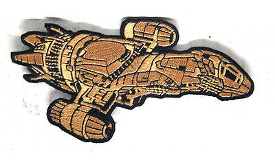"""Serenity/Firefly Die Cut Ship 4.5"""" Embroidered Patch- Mailed from USA (SEPA-009)"""