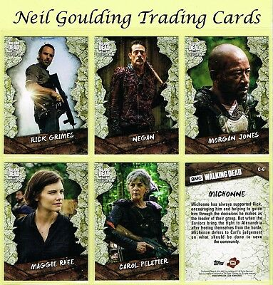 The Walking Dead - SEASON 8 PART 1 ☆ CHARACTER CARDS ☆ Inserts #C-1 to #C-25