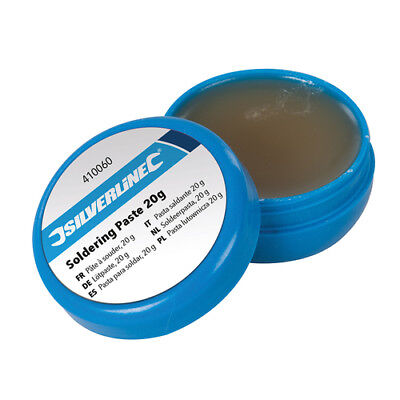 Silverline Soldering Paste 20g Flux Solder Lead - Free Leaves No Residue 410060