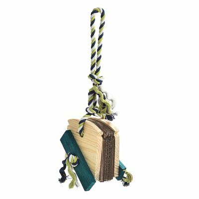 Almond Bread Chewable Foraging Toy for Parrots