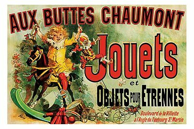 Jouets Poster - as seen on Friends TV series - Jules Cheret Jouets Poster
