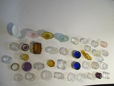 Lot 40 Vtg Glass Crystal Salt Cellars/Open Salts/Dips/ Antique crystal salts