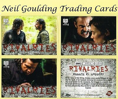 The Walking Dead - SEASON 8 PART 1 ☆ RIVALRIES ☆ Insert Cards #R-1 to #R-7