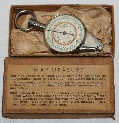 Antique Opisometer / Map Measurer with Original Box in Working Condition
