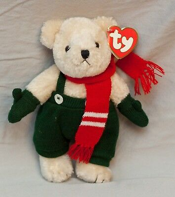 "Ty Beanie BABIES - WEATHERBY Xmas Bear - Attic Treasures 8"" TALL MINT TAGS VGC"