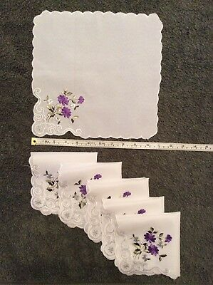 Cotton Blend Embroidered Napkins x 6