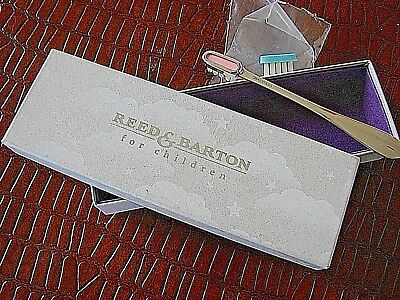 Reed & Barton Baby Sterling Silver Toothbrush Set-Nib-'broad Antique' Pattern
