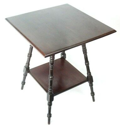 Arts and Crafts Mahogany Occasional Side Table - FREE Shipping [PL4753]