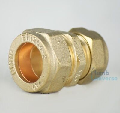 15mm x 18mm Compression Reducer Straight Brass Reducing Fitting