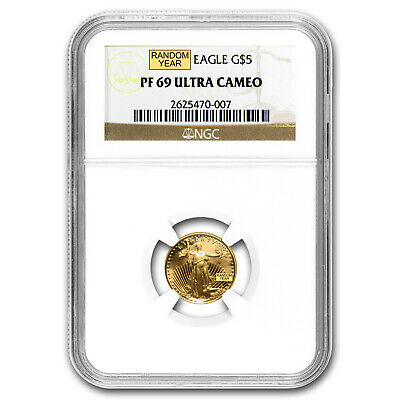 1/10 oz Proof Gold American Eagle PF-69 NGC (Random Year) - SKU #83517