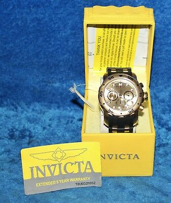 Men's Invicta 17884 Pro Diver 18k Gold Ion-Plated Stainless Steel Chronograph