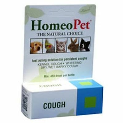 HOMEOPET COUGH - 15 ML - kennel cough, wheezing and dry, wet and barky coughs.