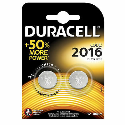 Genuine 2X Duracell Cr2016 3V Lithium Coin Cell Battery 2016 Dl2016 Br2016