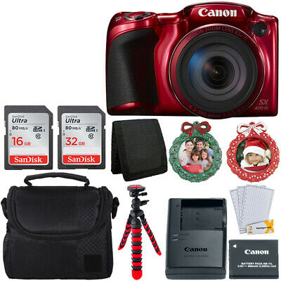 Canon PowerShot SX420 IS (Red) with 42x Optical Zoom and Built-In Wi-Fi Full Kit