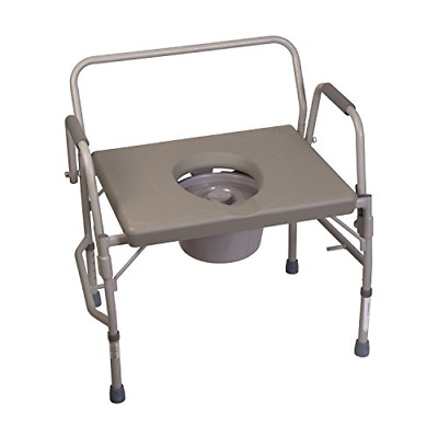 Duro-Med Commode Chair, Heavy-Duty Steel Commode Toilet Chair, Toilet Safety