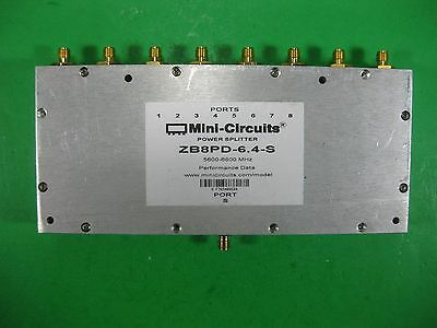 Mini Circuits Power Splitter 5600-6800MHz ZB8PD-6.4-S Used