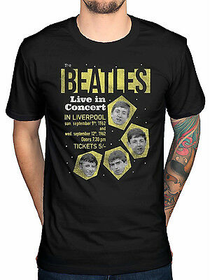 Official The Beatles 1962 Live In Concert T-Shirt Palladium 196 Love Abbey Road
