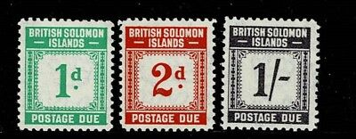 Solomon Islands  1940 Postage Due Values Mounted Mint