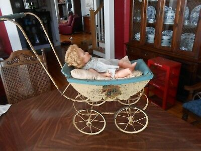 Vintage Baby Doll Carriage Strollers W/Oneeda Doll 516-22