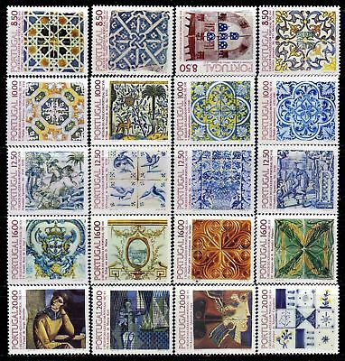 Portugal Portuguese Wall Tiles (1981-1985) all sets OG MNH** (T)