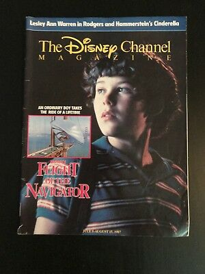 Disney Channel Magazine - Flight Of The Navigator - July/Aug 1987