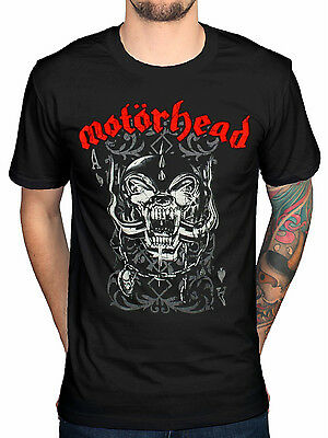 Official Motorhead Playing Card T-Shirt OverKill Bomber Ace of Spades Punk Rock