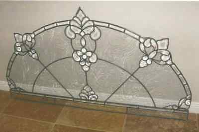 Leaded Stain Glass Window, With Beveled & Crystal Clear  Pieces