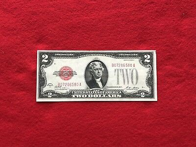 """FR-1502 1928 A Series $2 Red Seal US Legal Tender Note *Very Fine+* """"Solid Note"""""""