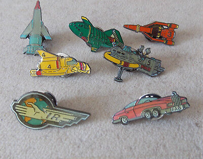 Gerry Anderson's THUNDERBIRDS enamelled Pin Badges