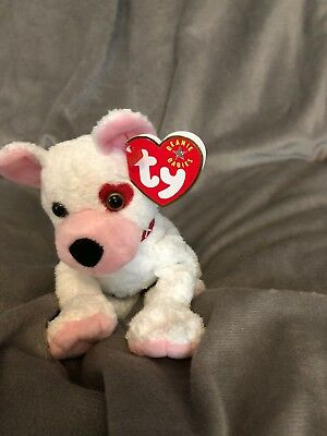 71f3fee87cd TY BEANIE BABY Set of 2~ CUPID the Dog (Left   Right Eye Versions ...