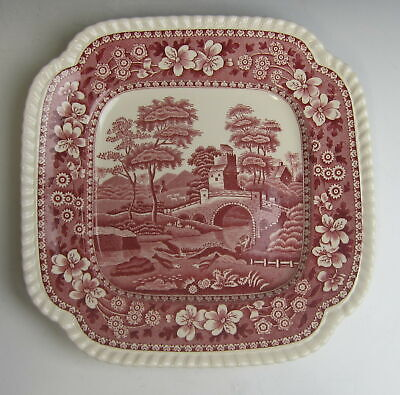 Spode China TOWER PINK (OLD MARK) Square Salad Plate(s) EXCELLENT