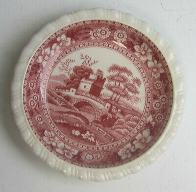 Spode China TOWER PINK (OLD MARK) Butter Pat(s) EXCELLENT
