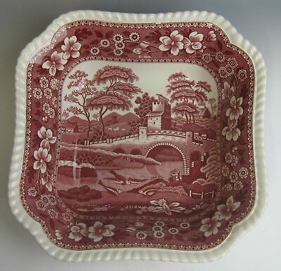 "Spode China TOWER PINK (OLD MARK) 9"" Square Vegetable Bowl(s) EXCELLENT"