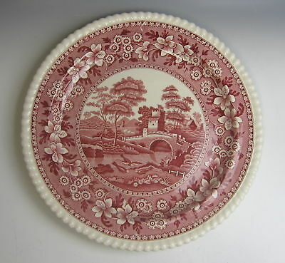 "Spode China TOWER PINK (OLD MARK) 12"" Chop Plate/Round Platter EXCELLENT"
