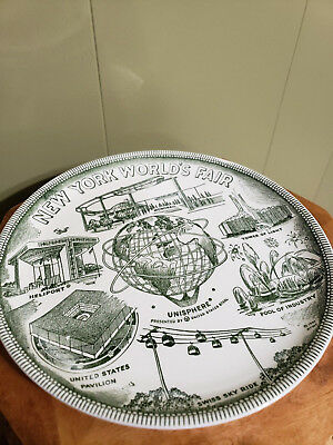 New York World's Fair 1964 Ceramic Plate Dated 1961 Nywf Unisphere Souvenir Dish