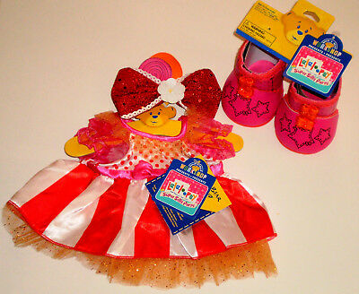 6071d43d8fb Build a Bear Peanut Big Top Circus Dress Boots Lalaloopsy Doll Teddy Size  Outfit