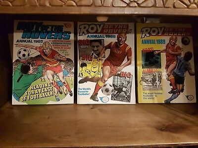 Roy Of The Rovers Annuals 1985 1988 1989 VGC