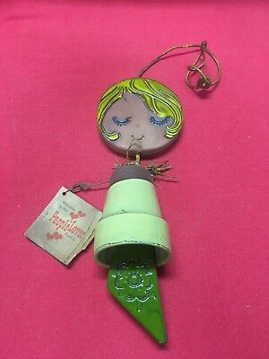Vintage Ceramic Wind Chime 1966 People Lovers Family Pacific Stoneware with Tag