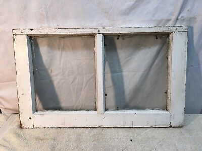 Vtg RARE Small Farm Country Two 10x12 Pane Wood Window Sash Cottage Shabby White