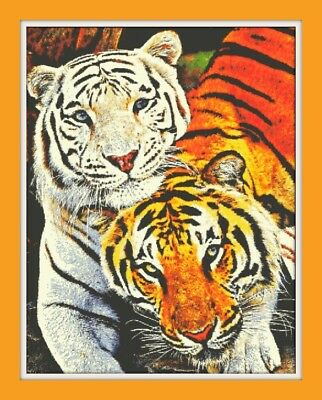 BN! T006 BENGAL TIGER CROSS STITCH CHART