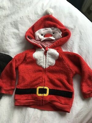 6-9 Months Christmas Jumper Fleece Cardigan Santa Dress Up
