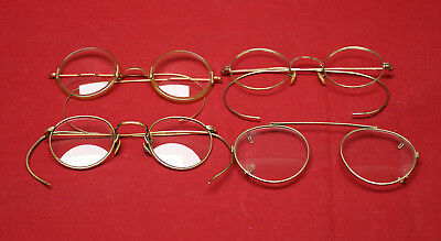 Lot Of 4 Vintage Gold Filled Eye Glasses FREE SHIPPING!