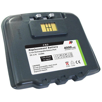 Replacement Battery for the Intermec/Norand CN3 & CN4 Scanners. 4000mAh Extended