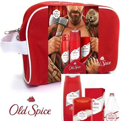 ++ LIMITIERT ++ Old Spice Original Travel Wash Bag Geschenk Set 4 teilig WoW