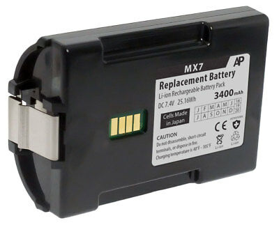 Replacement Extended Battery for Honeywell/LXE MX7 Tecton Scanner. 3400mAh