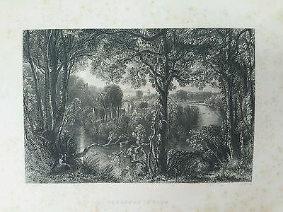The Banks of Doon   Scotland 1840 engraving