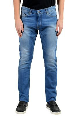 Roberto Cavalli Men's Blue Stretch Slim Jeans Size 34 36 38
