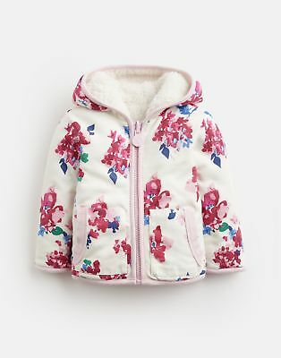 Joules 124953 Baby Girls Reversible Fleece 12 18 in CREAM FLORAL Size 12min18m