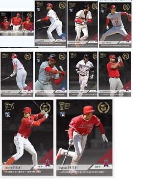 2018 Topps Now Moment of the Year Set Trout Ohtani Soto (10 cards) MOY1-MOY10